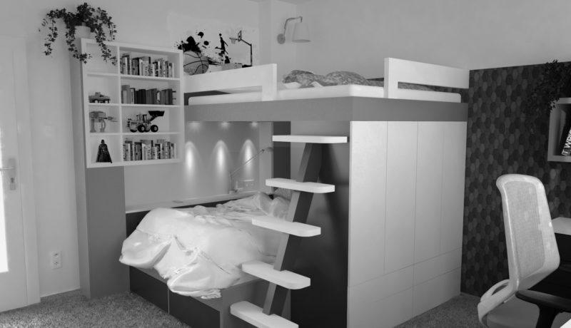Chlapecký pokoj pro dvojčata  – Praha 2