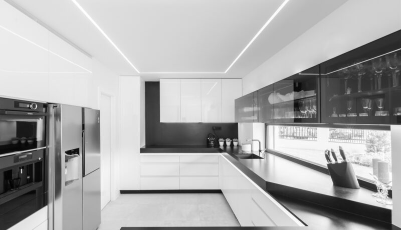Kuchyň, obývací pokoj